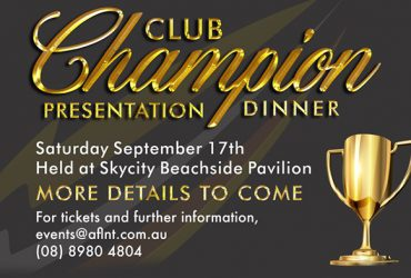 Club Champion Presentation Dinner 2016