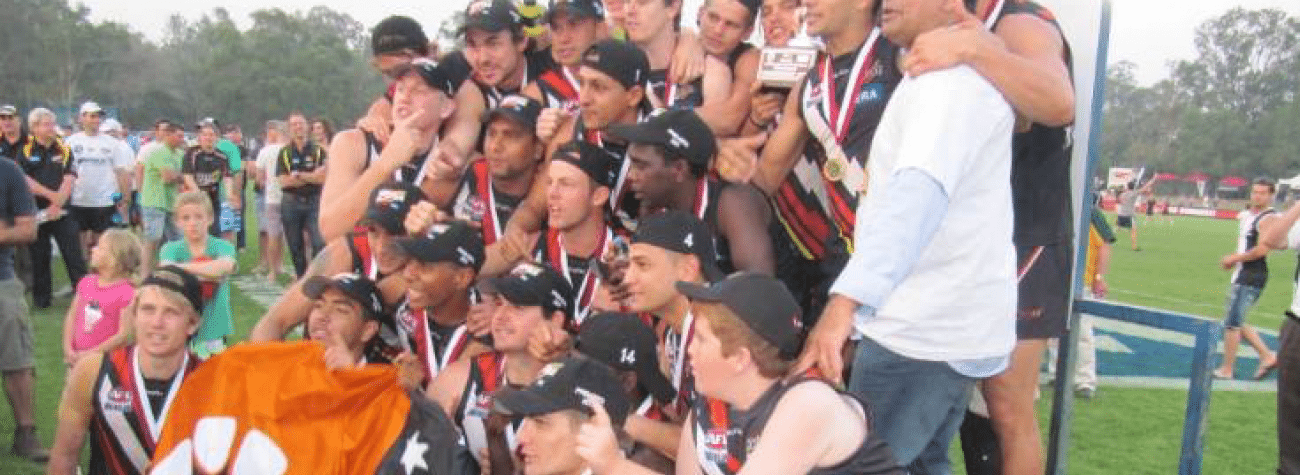 All of the Thunder Boys posing for the 2011 premiership