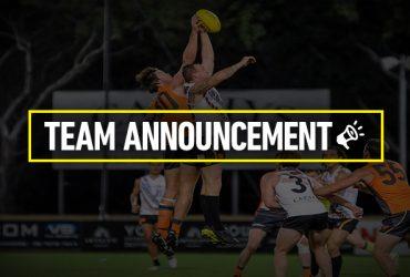Team announcement Rd 14