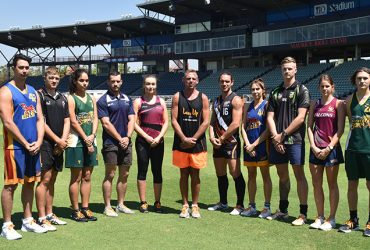 Cameron Ilett joins other NT sporting stars and David Hardy to launch Lace Up 2017