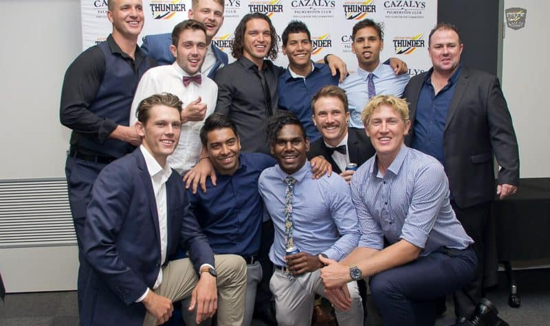 Some of the Thunder boys having a photo at the 2017 Club Champs