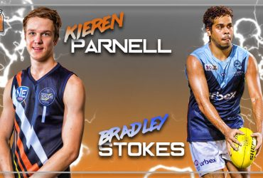 Kieren Parnell and Brad Stokes sign on