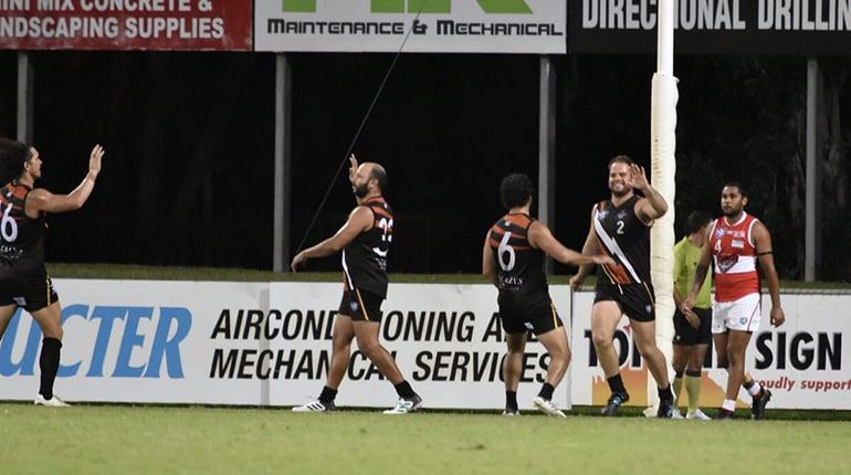Boof celebrates one of his eight goals
