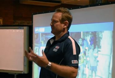 Stu Totham presents at the TIO CAFL Footy Forum