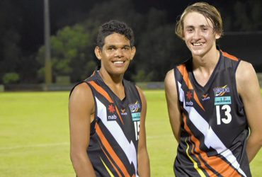 Liam Holt-Fitz and Matt Green after representing the NT