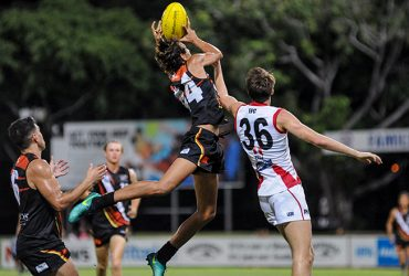Adam Sambono takes a flying mark