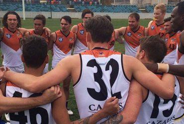 Rd 12 v Canberra team huddle