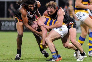 Vea vea and Jake R. takling a Sydney Uni player