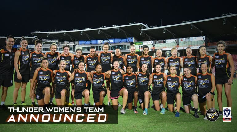 ThunderW team rolls into VFL with a strong mix of local and AFLW