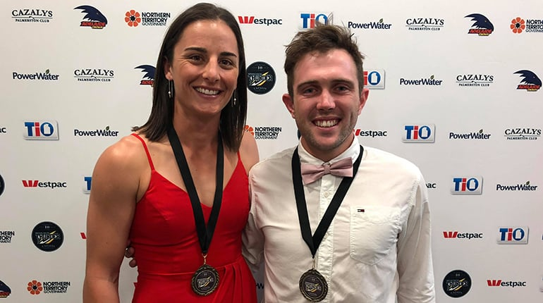 Angela Foley and Abe Ankers 2018 Club Champions