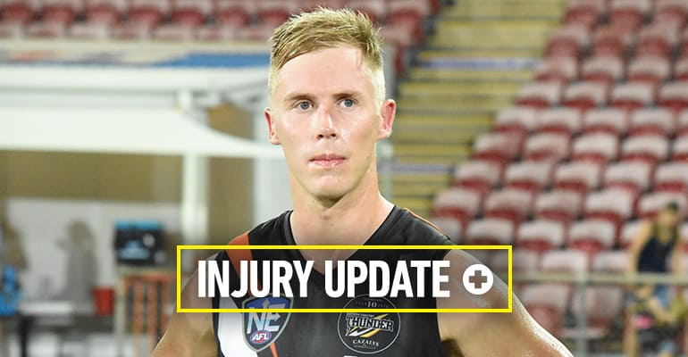 Sam Dyke on the injury radar