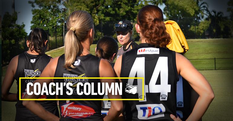 Heidi Thompson addresses players